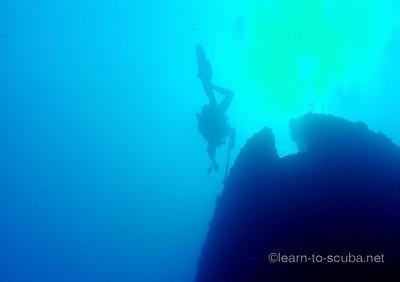 Spearfisherman, Thunderbolt wreck, Marathon, Florida.
