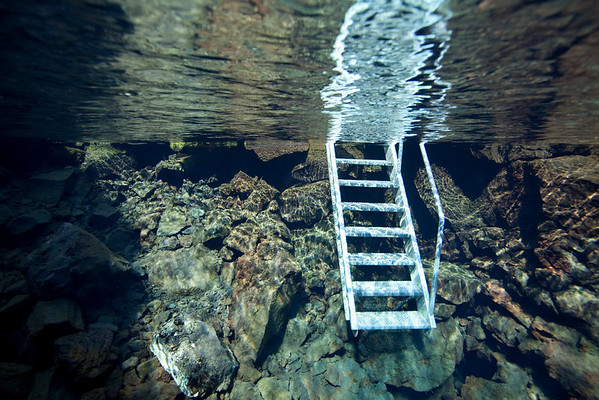 Unusual entry into a dive site...