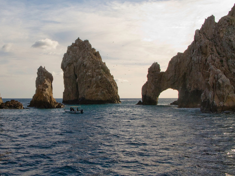 The Lands End Arch at the southern-most tip of the Baja Peninsula.