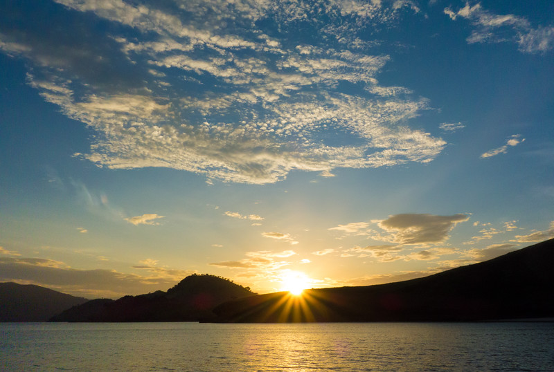 Sunrise over islands, Komodo