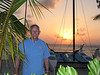 David and another gorgeous sunset on Grand Turk.