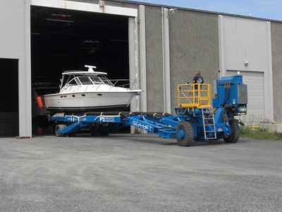 "Tiara 31 ""Just for Fun"" ready for action after winter storage in Anacortes. June 5, 2013"