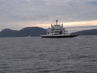 BC Ferry near Active Pass..  BC, Canada June 8, 2013