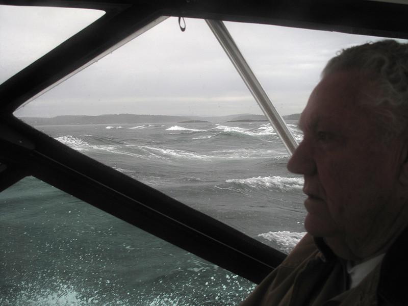 Crossing the Strait of Juan de Fuca from Whidbey to San Juan Island. June 7, 2013