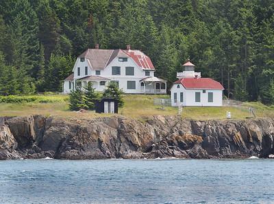 Burrows Island lighthouse. June 5, 2013