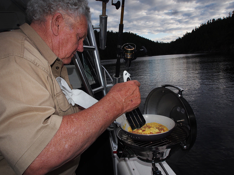 Dinner time, Prudeuax Haven, Desolation Sound, BC, Canada June 8, 2013