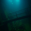 Engine room of Kensho Maru.<br /> Truk Lagoon 2013
