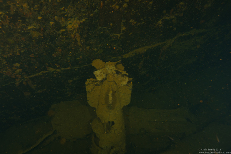 Type 93 Long Lance torpedo in the hold of the Heian Maru<br /> Truk Lagoon 2013