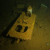 Operating room table on the Shinkoku Maru.<br /> This room also had adjacent bath and toilets.<br /> Located under the bridge.<br /> Truk Lagoon 2013