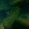 Construction roller hanging on in the Hoki Maru<br /> Truk Lagoon 2013
