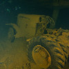 Tractor in the hold of the Hoki Maru<br /> Truk Lagoon 2013
