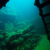 Engine room of the Kensho Maru.<br /> Truk Lagoon 2013