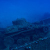 Light artillery tank on the deck of the Nippo Maru.<br /> Truk Lagoon 2013