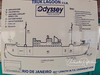A chart like this was used to brief us before each dive.  Extensive briefings included where we could expect to see what on the wreck while we were down there.  This ship, the Rio De Janeiro (named for its first port of call), was a passenger cruise ship prior to being turned into a military vessel.