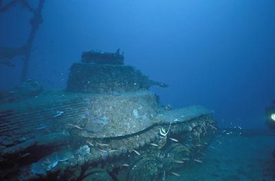 Tank, San  Francisco Maru, Truk Lagoon, 1983