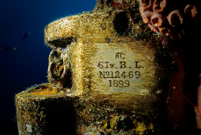 The serial number is plainly visible on the bow gun of the Fujikawa Maru.