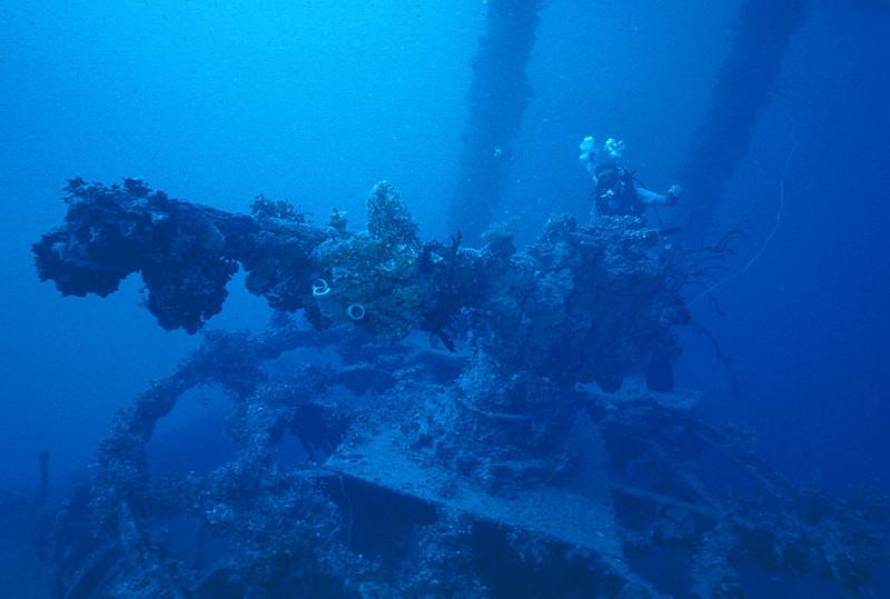 Kensho Maru, Truk Lagoon. Micronesia. February 28, 1982