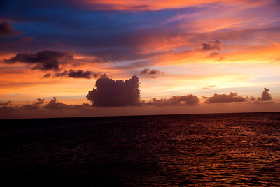 Sunset at sea near West Caicos.
