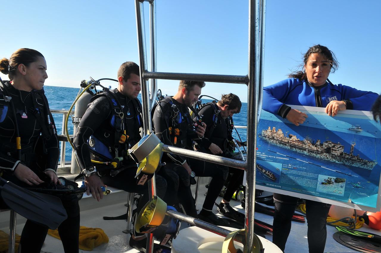 USS Vandenberg Dive briefing with Dive Key West, Inc. - December 2012