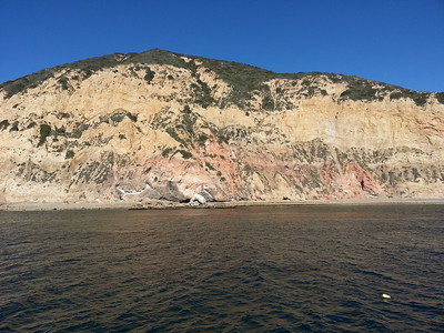 © Joseph Dougherty. All rights reserved.  Cliff face at Santa Rosa Island.  Lobster trap float in the foreground.  Channel Islands National Park, CA.