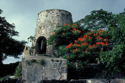 Ruins of a sugar mill on St. John in the U.S. Virgin Islands.