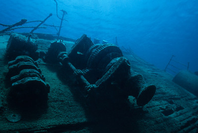 Main deck of the wreck of the Cartanser Sr. Little Buck Island, USVI