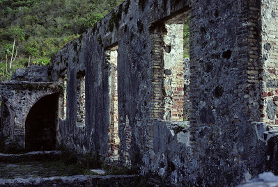 Sugar mill ruins on the island of St. John in the U. S. Virgin Islands.