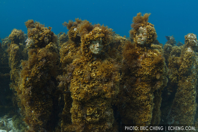 Statues off the coast of Isla Mujeres