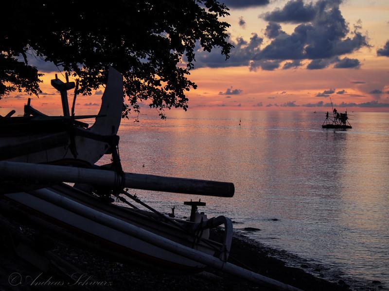 Sunset on beach, Bali 2013