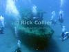 "Divers explore a sunken tugboat.  St. Eustatius (Statia), Netherlands Antilles.<br /> <br /> <br /> <br /> <br /> ""St. Eustatius"" ""Saint Eustatius"" Statia Netherlands Antilles ""Lesser Antilles"" Caribbean SCUBA dive diver sea bottom sea floor sand fish wreck shipwreck sunken boat divers"