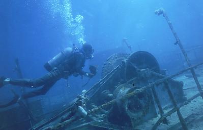 Sunken LCU , Majuro Atoll.