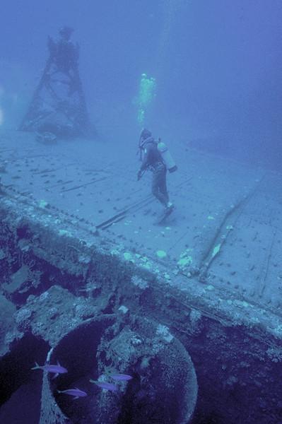 deck of the Saratoga, Bikini Atoll