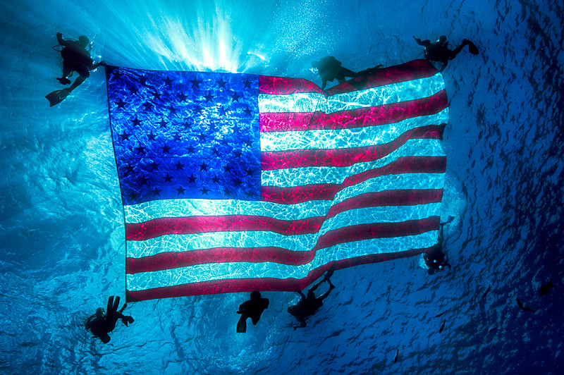 Divers American Flag