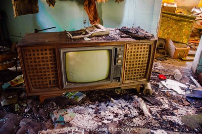 TV from an old school marm's house.