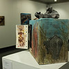 Environmental art exhibits in the K-State Student Union capture everyday activism through various media and uses art to symbolize humaninity's relationship with the environment. (Conrad Kabus | Collegian Media Group)