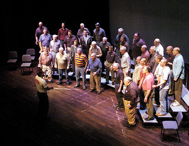 The chorus for this Saturday's 2012: Barbershop Odyssey rehearses on Tuesday.  The show is at  7:30 p.m. inside the Weis Center at Bucknell, tickets can be purchased at the door.