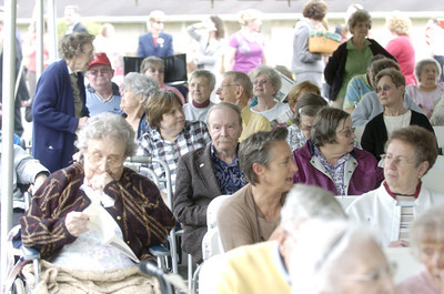 More than 100 people turned out for a ground breaking ceremony on the new nursing care center project at the Buffalo Valley Lutheran Village on Tuesday.