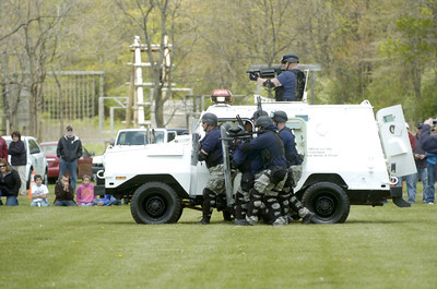 DCT team members of the Allenwood Prison do a tactical demonstration on Wednesday at the Emergency Preparedness Day at the FCC Allenwood Training Center.