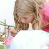 Katelyn Coleman, 10, Lewisburg, adds a bit of cotton stuffing to her fairy garden she was making on Tuesday at the Packwood House in Lewisburg.