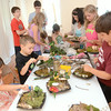 Around a dozen kids enjoyed making fairy and hobbit gardens on Tuesday at the Packwood House in Lewisburg.