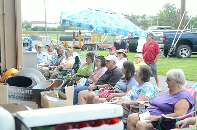 A good size crowd turned up for Monday evening's Lewisburg Kiwanis Club auction to benifit local charities.