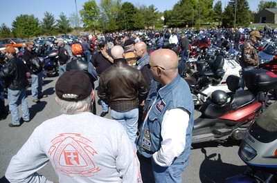 More than 675 motorcycle riders gathered Friday morning at the Country Cupboard in Lewisburg for the annual May Day ride.