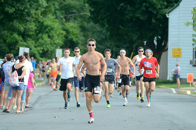 Vince Fadale of Selinsgrove gets out to an early lead at the Mifflinburg 5k on Friday.