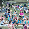 Robert Inglis/The Daily Item  A good size crowd turned up at Hufnagle Park in Lewisburg for the Campus Theater's showing of Jaws.