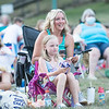 Robert Inglis/The Daily Item  Meghan Moyer and her daughter Aniston, watch Jaws in Hufnagle Park in Lewisburg on Monday evening during a free showing by The Campus Theater.