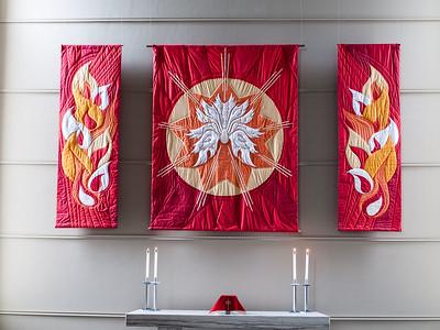 Pentecost quilt (gray)