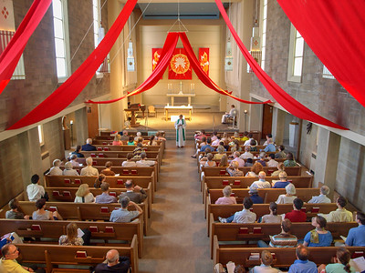 Pentecost with congregation