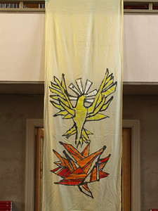 Pentecost dove and flames