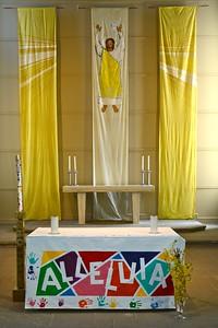 Resurrected Jesus with Alleluia