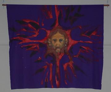 Purple Head of Christ